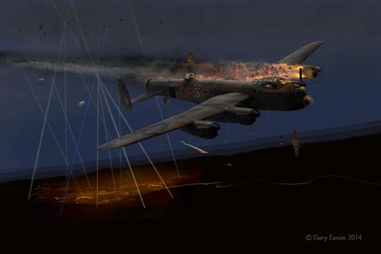 Lancaster-JA708-OF-P-shot-down-Gary-Eason-SM