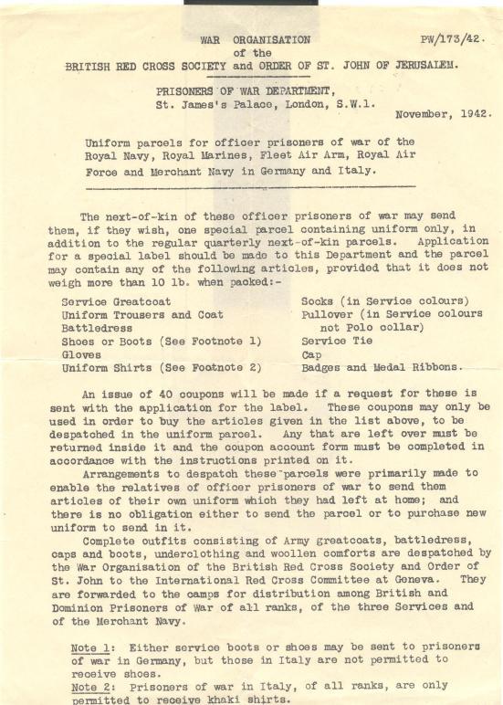 25.10th December 1943  PW 173 42(3)